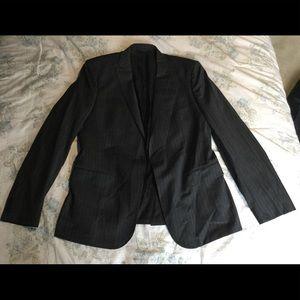 J. Lindberg CHAR/GRY Stripe Fall Size 46 Sportcoat